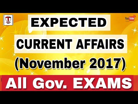 most important current affairs||November 2017||SSC JE||ssc CHSL