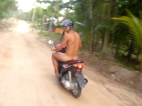 Nude Motorbike to koh Tao!!