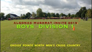 Gambar cover Muskrat Invite 2019 Division 1 Boys