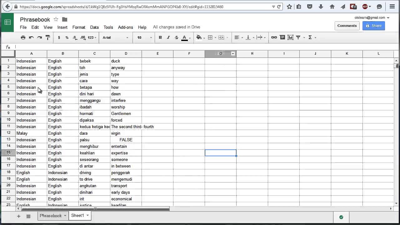 Tutorial: Creating an (Audio) Anki Deck from a Google