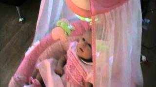 Fisher Price Butterfly Sparkle Papasan Cradle Swing™ - Pink For Baby Girls