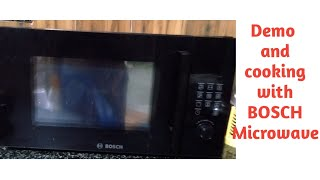Demo Of BOSCH Microwave // Demo and Cooking of Paneer Malai Tikka in Microwave // Cook with BOSCH