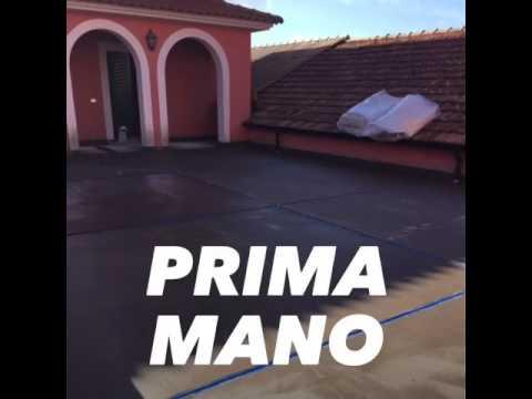 Rifacimento terrazzo con sistema completo Mapei. - YouTube