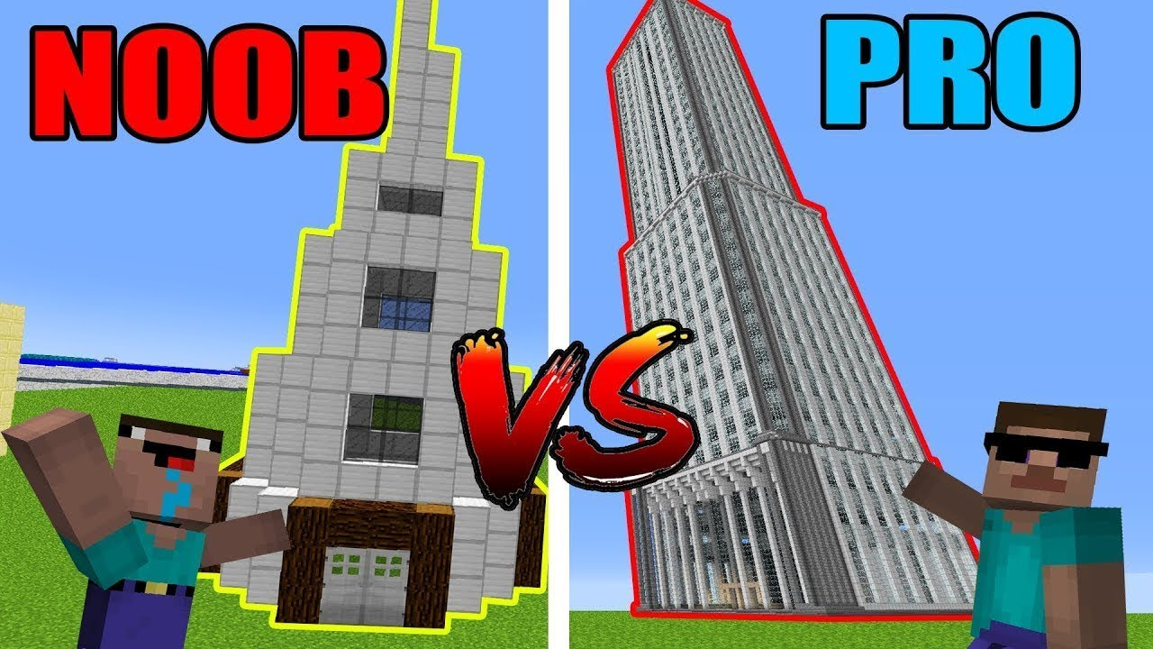 Minecraft NOOB vs. PRO: SKYCRAPER in Minecraft!
