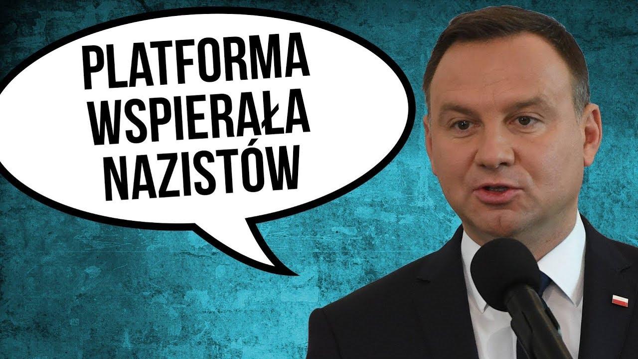 Prezydent Duda Oskarża Platformę [ PO ] o Wspieranie Nazistów w Polsce po Superwizjer TVN