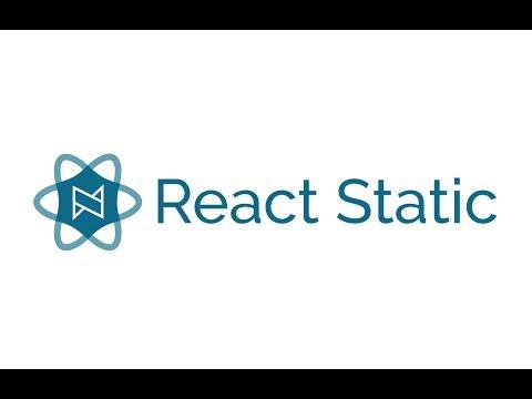 React Static - A progressive static-site framework for React @ OgdenJS