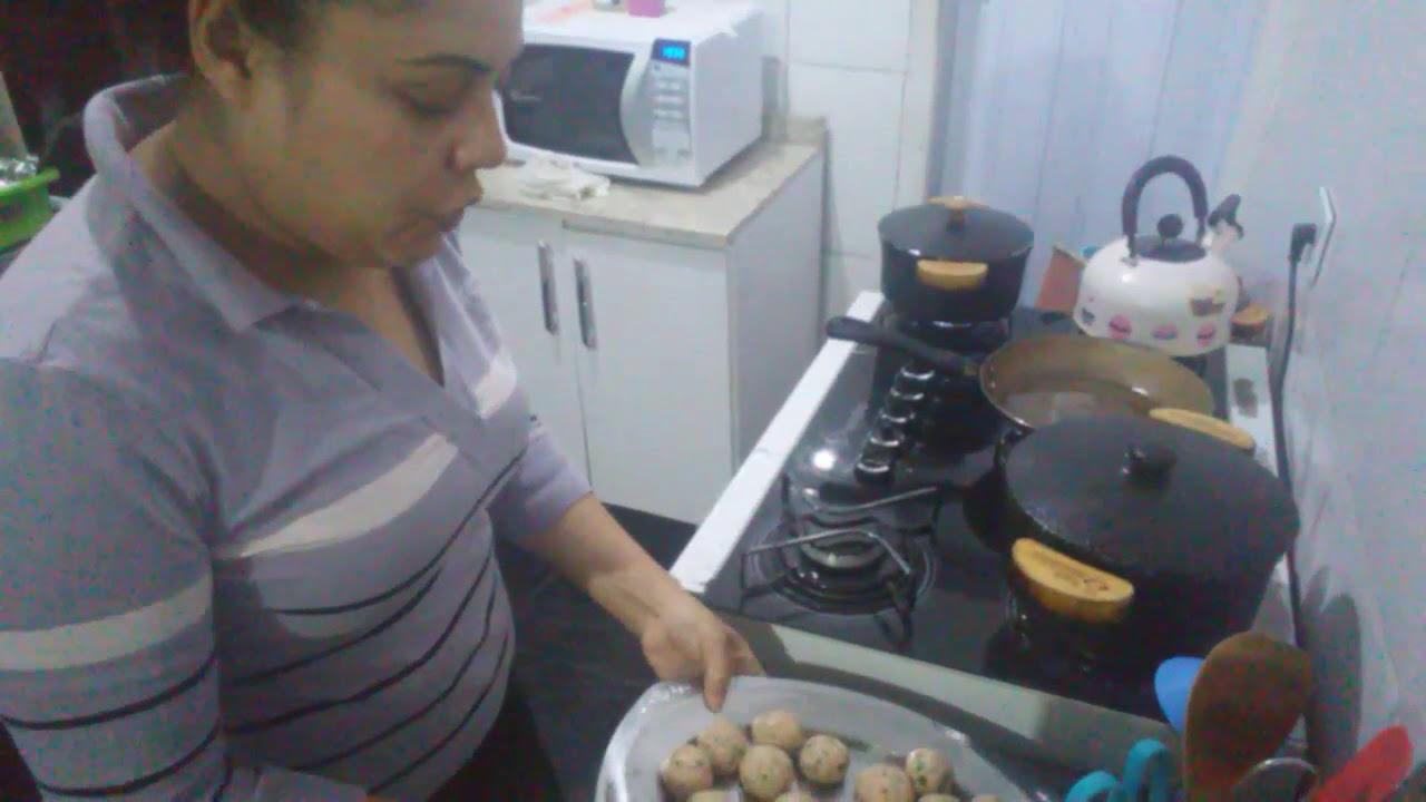 Minha receita de almôndegas de frango com bacon #ccb#rumoa1k#donadecasa