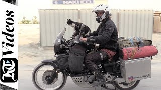 From Germany to Dubai, a man and his cat embark on a motorbike adventure