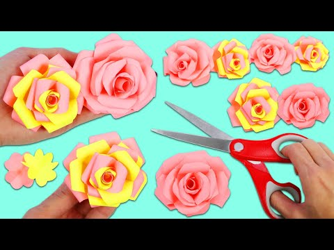 How to Make Beautiful & Realistic Paper Flowers | Fun & Easy DIY Arts and Crafts!