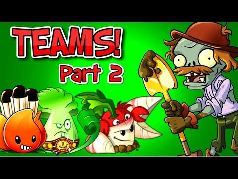 Plants vs. Zombies 2 EXCAVATOR ZOMBIE vs Team Plants PART 2 ✔