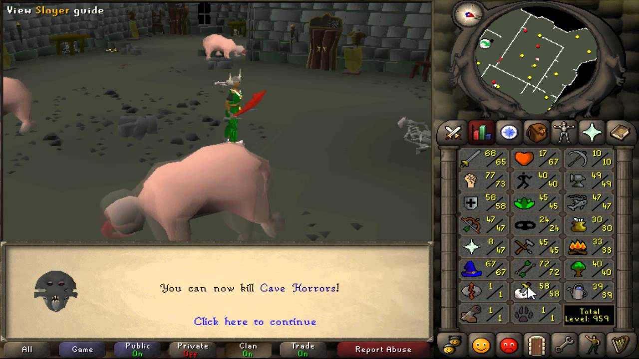 Runescape 2007 Cave Horros made 1mil in 40mins - YouTube