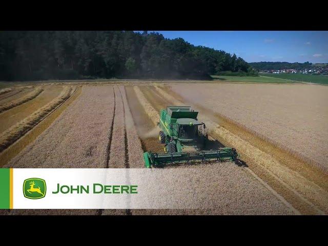 John Deere T560 Combine Video - Germany
