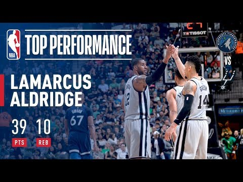 LaMarcus Aldridge Puts Up A Double-Double vs Timberwolves!
