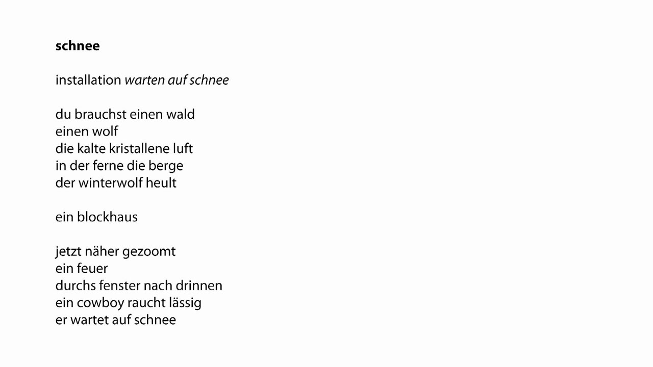 Weihnachtsgedicht Tannenbaum.Schnee Zuppanova Gedicht Lesung Lyrik