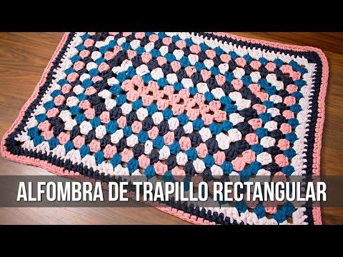 Alfombra de trapillo rectangular youtube - Como hacer alfombras de nudos ...