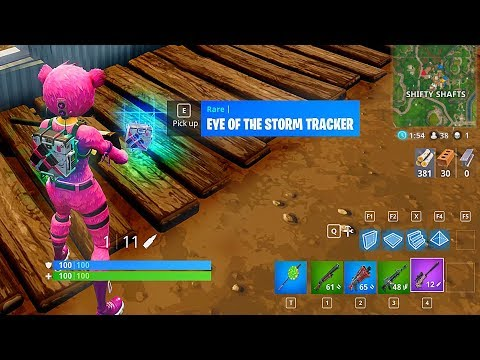 Using the Eye of the Storm Tracker in Fortnite Battle Royale Gameplay