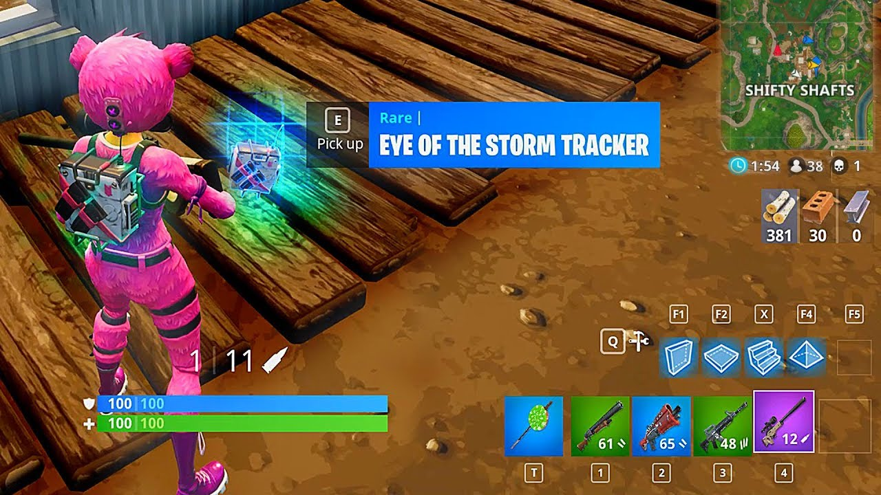 Using The Eye Of The Storm Tracker In Fortnite Battle Royale