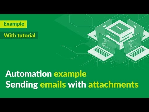 Sending emails with attachments - automation demo + tutorial - G1ANT thumbnail