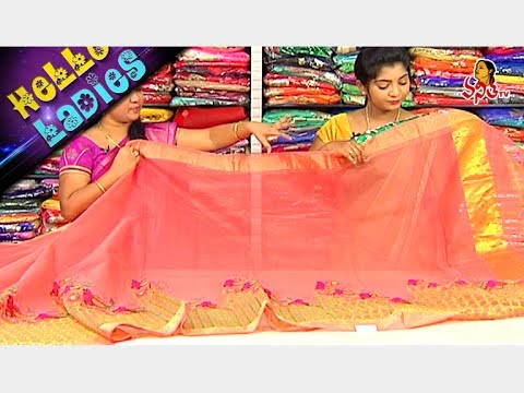 Amazing Kanchi And Linen Jute Falling Fabric Sarees || Hello Ladies || Vanitha TV