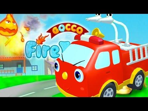 Пожарная машина мультик. Помоги пожарнику затушить пожар. Маленький пожарник тушит пожар.