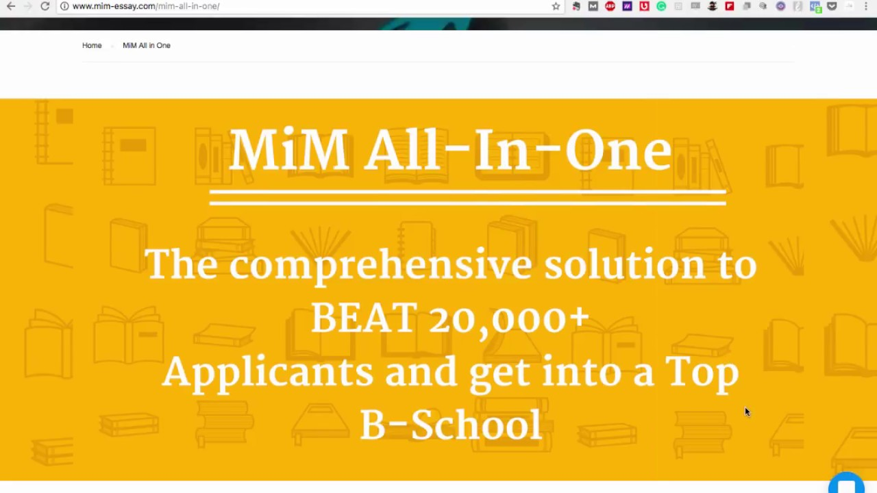 mim all in one   comprehensive mim application consulting