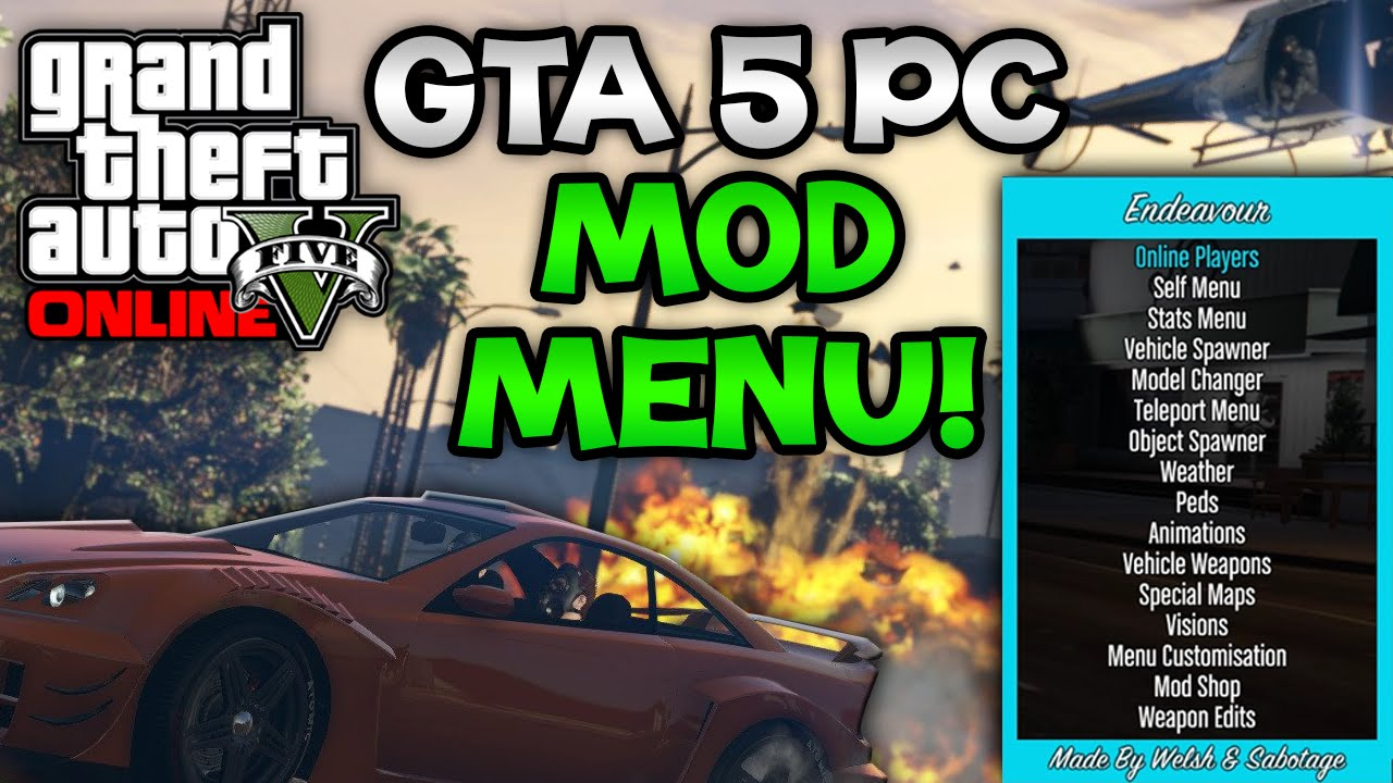 Gta 5 pc mods endeavor mod menu! , new gta 5 pc mod menu