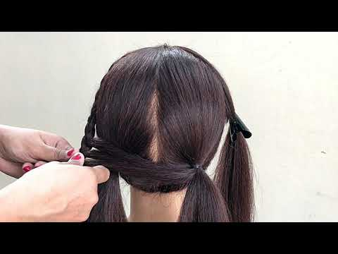 unique-hairstyle-for-medium-or-long-hair-||-beautiful-unique-hairstyle-for-party