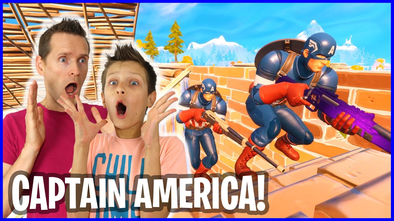 CAPTAIN AMERICA WITH RONALD FOR THE VICTORY!