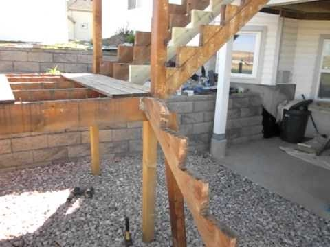 Denver deck contractor installing deck stairs youtube - Things consider installing balcony home ...