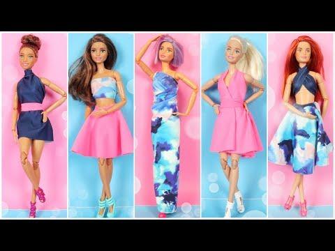 5-diy-no-sew-no-glue-doll-clothes-e1---how-to-make-barbie-clothes-ideas-easy---doll-hacks-and-crafts