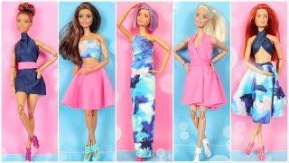 5 DIY No Sew No Glue Doll Clothes e1 - How To Make Barbie Clothes Ideas Easy - Doll Hacks and Crafts