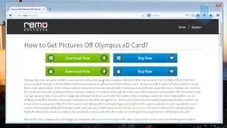 How to Recover Pictures from Olympus XD Card