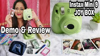 FujiFilm Instax Mini 9 Joy Box POLAROID Unboxing First shot detailed review Fixing Errors