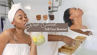 100% Black Owned Self Care Routine! [ body, hair, skin + more ! ] | 12 Days of Christmas (Day 7)