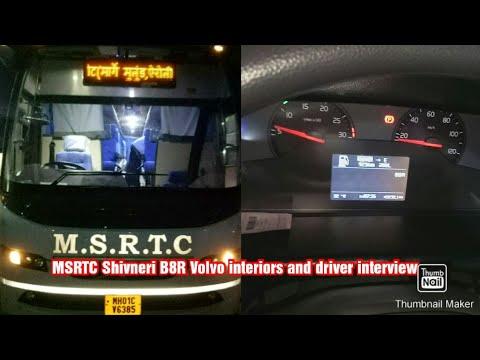 MSRTC Shivneri Volvo B8R, Interiors, Driver Interview And Dashboard Controls.(Hindi And English)