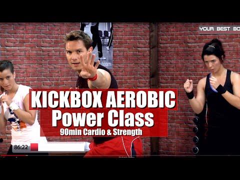 Full Body Kick Box Aerobic Workout Routine 90 Min