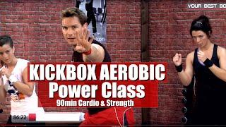 Full Body - Kick Box Aerobic Workout Routine 90 Min