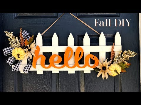 Fall DIY | Fall Fence Door Decor