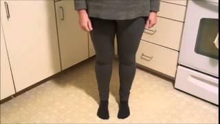 ABUSA Women's Cotton Workout Tights Capri YOGA Pants