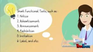 Let's study kinds of Short Functional & Transactional Texts !