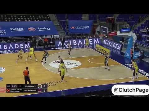Fenerbahçe Beko'nun, Baskonia karşısında yaptığı tüm asistler