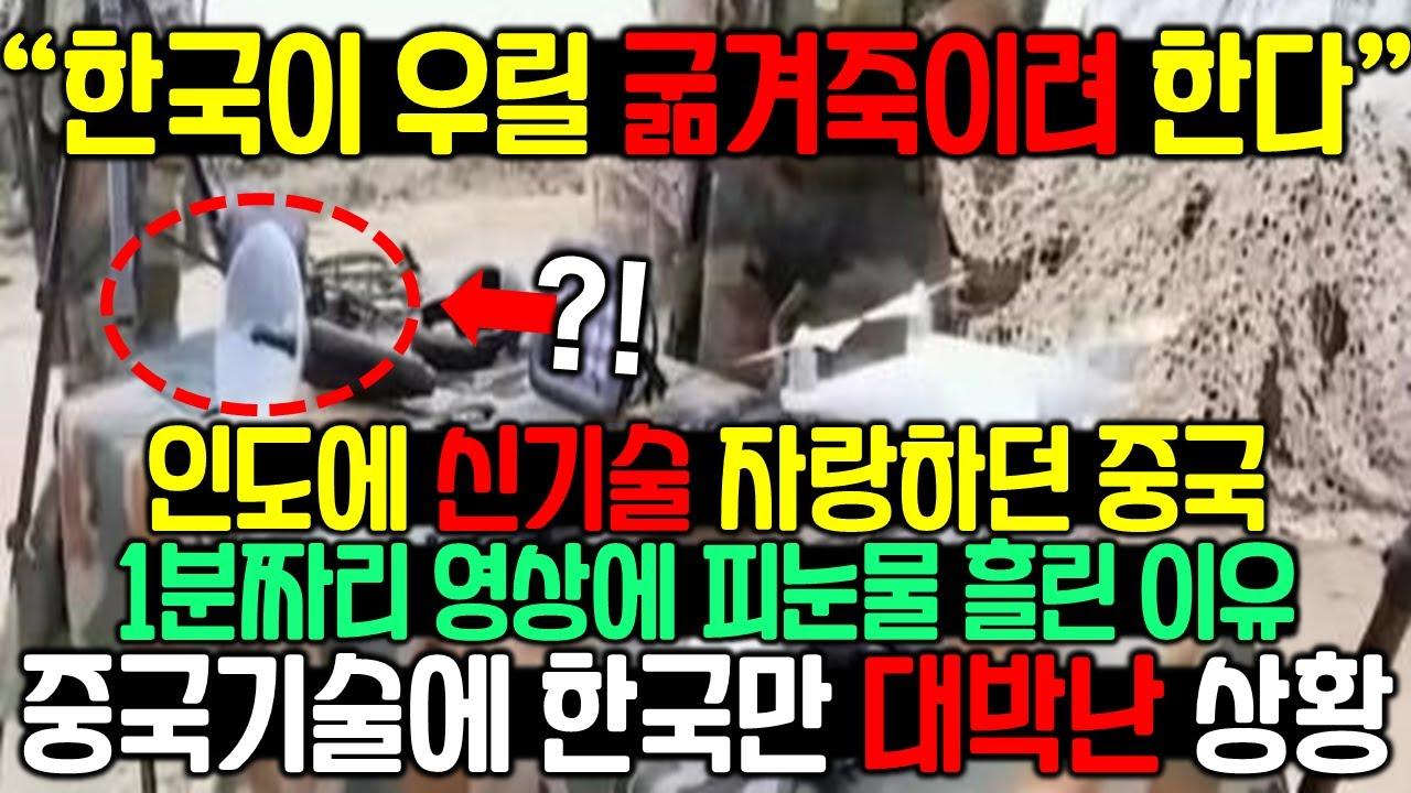 인도에 최신무기 자랑하던 중국이 1분짜리 영상에 경악한 이유 중국덕분에 대박터진 한국[해외반응]