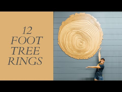 Making Giant Wooden Tree Rings