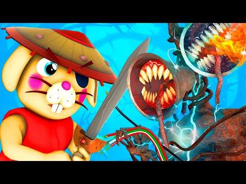 Piggy vs Siren Head 2 (Roblox Book 2 Chapter 4 Peppa Pig Horror 3D Animation Parody Challenge)