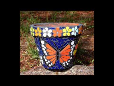 Spring Mosaic Plant Pots