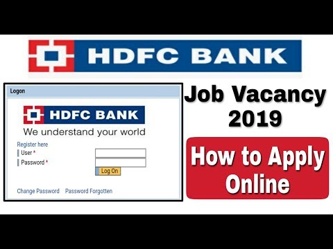 HDFC Bank Recruitment 2019 II All India Job II Private Bank Jobs II how to apply online