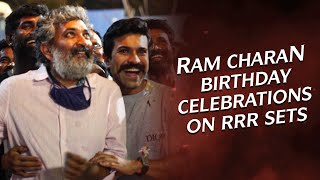 Ram Charan's Surprise Birthday Celebrations on RRR Movie sets - Vlog 7 - #RRRDiaries