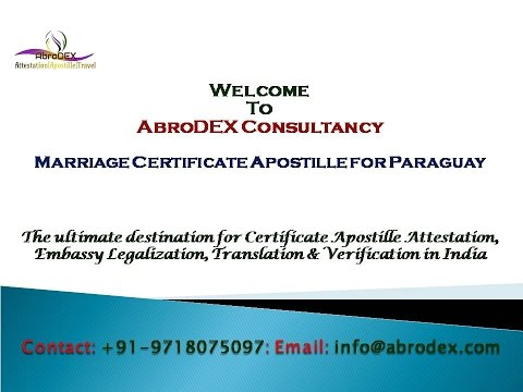 Marriage Certificate Apostille for Paraguay