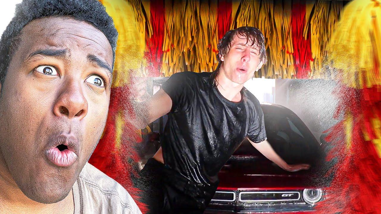 JOE walks into a CAR WASH and loses his entire left
