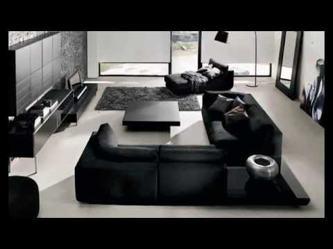 Contemporary Living Room Design Black And White With